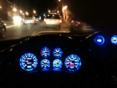 Cobra With Autometer Cobalt Gauges At Night Youtube