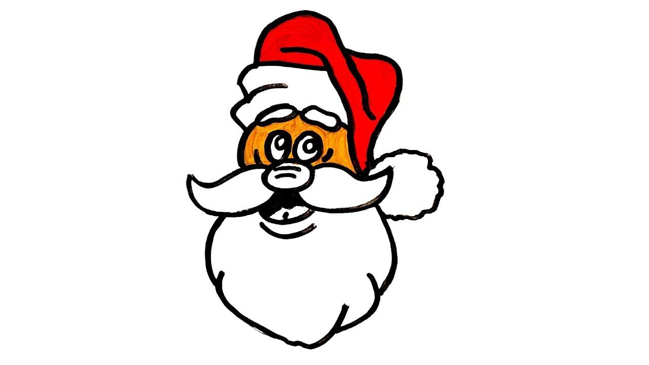 Christmas Santa Claus | How To Color Santa Claus | Christmas Art ...