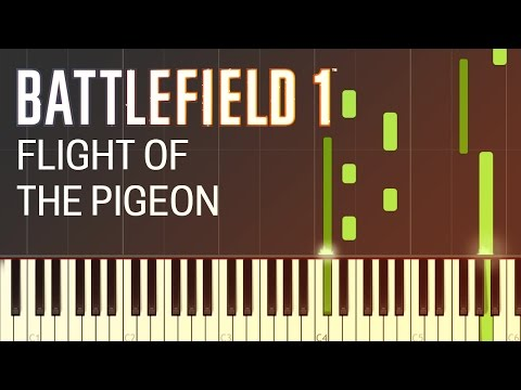 Battlefield 1 - Flight of the Pigeon - Piano Tutorial by Firefly Piano - Synthesia