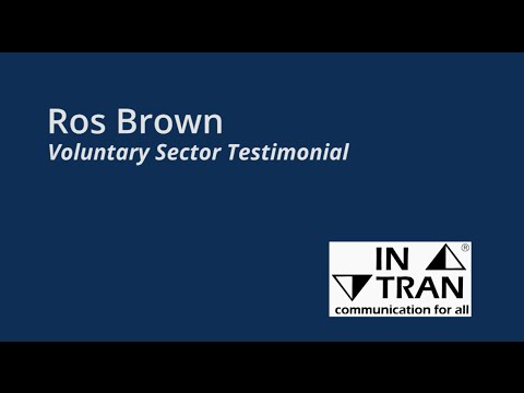 Ros Brown, Voluntary Sector Testimonial - INTRAN