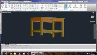 Design A Wooden  Table/desk In Auto Cad