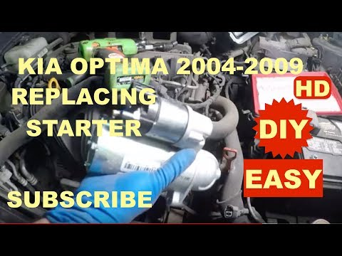 How to replace starter motor on 2004 2009 Kia Optima 2
