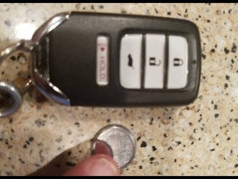 Honda Key Battery Replacement >> Honda Key Fob Battery Replacement Accord Civic Cr V Odyssey Pilot Hr V Ridgeline Car How To Replace