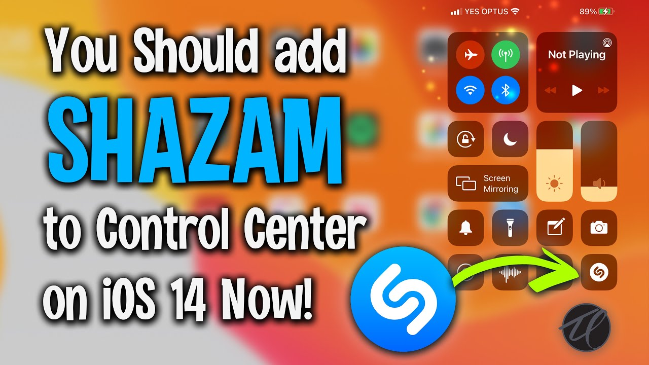 Download You should add Shazam to the Control Center on your iOS14 iPhone Now