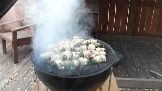 Bbq'ing Bacon-wrapped, Sausage-stuffed Jalapenos