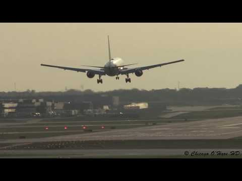 Heavy Traffic Landing - Runway 28C - Chicago O'Hare Airport - Plane Spotting