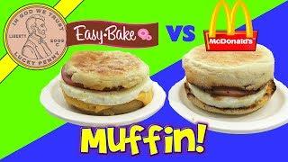 Real Meal Easy Bake Oven Egg McMuffin Vs  McDonald