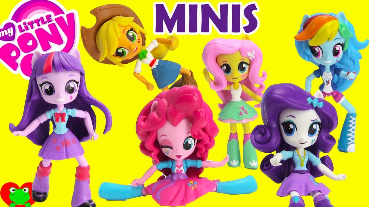 my little pony equestria girls minis dolls   youtube