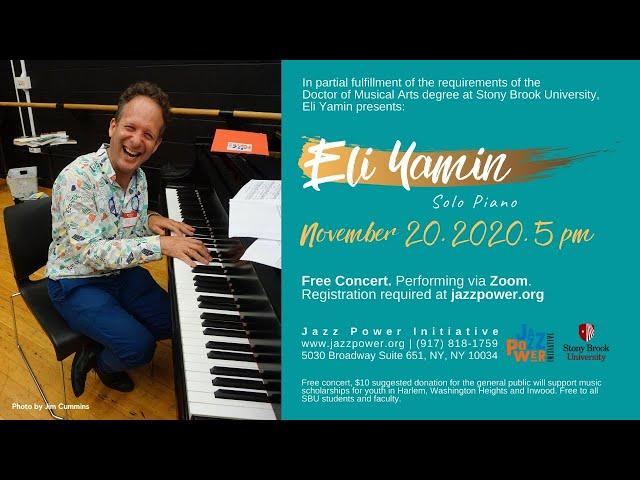 Eli Yamin: Solo Piano concert