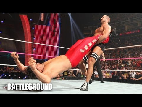 The Cesaro Swing on The Great Khali at WWE Battleground