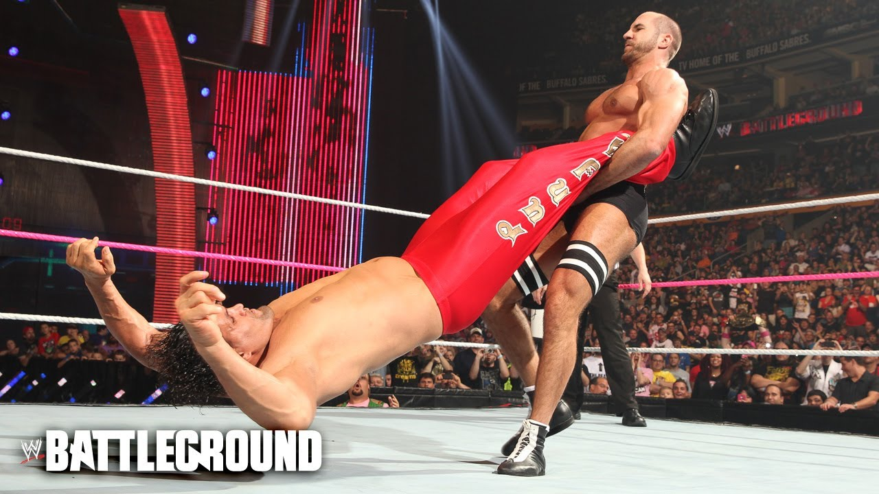 The Cesaro Swing On The Great Khali At Wwe Battleground Youtube
