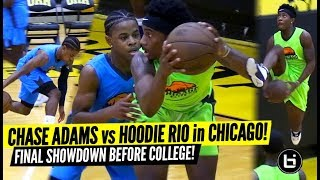Hoodie Rio Battles Chase Adams at Chicago Pro Am! PG's Final Battle Before College!