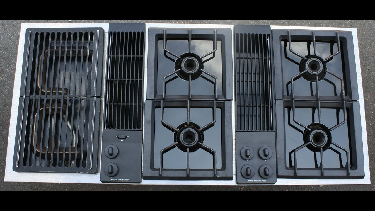 jenn air stove top. jenn air downdraft cooktop demonstration stove top