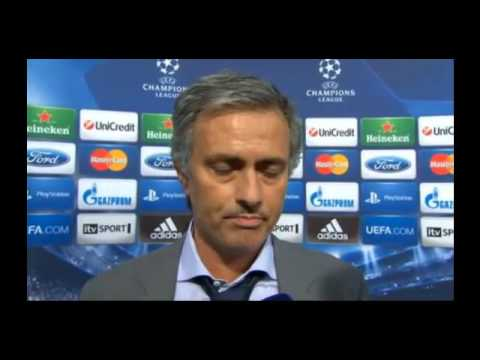 Real Madrid 3-2 Manchester City - Jose Mourinho Interview - 18/09/12