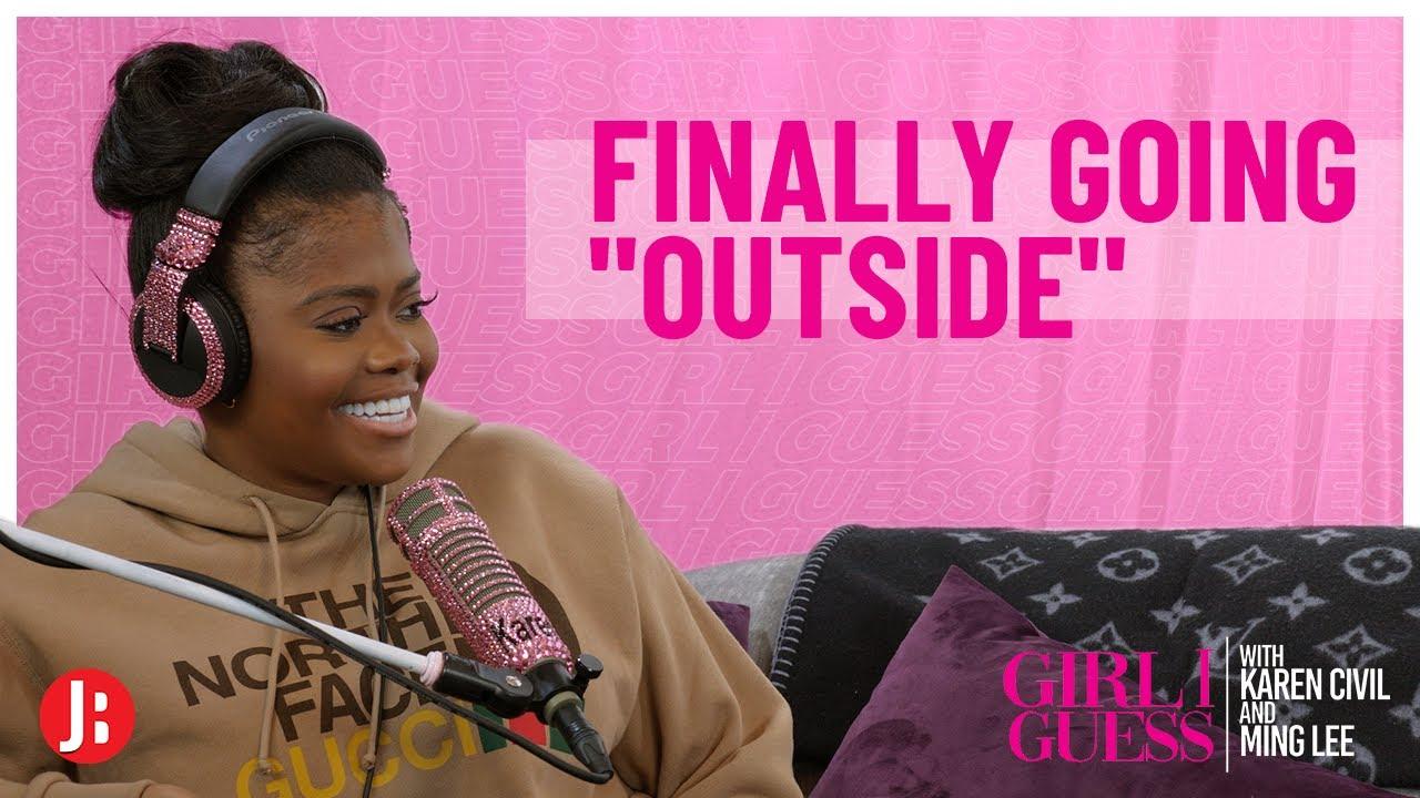 "Finally Going ""Outside""   Girl I Guess"