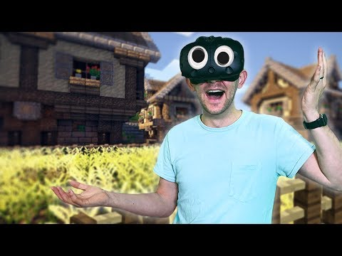 WE FOUND A VILLAGE! | Minecraft Mixed Reality [Ep 11]