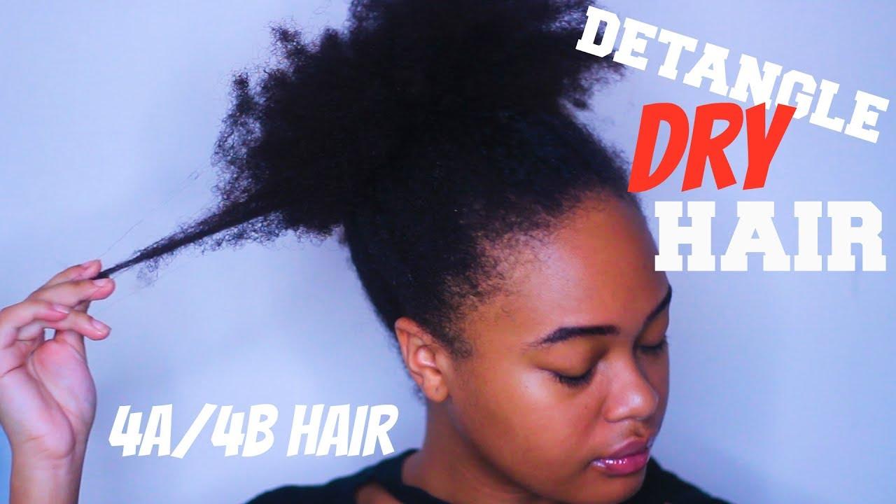 2 ways detangle dry natural