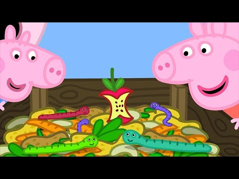 Peppa Pig English Episodes | Compost with Peppa Pig! | 1 Hour | Cartoons for Children #170