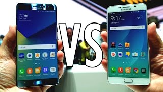 Samsung Galaxy Note 7 vs Galaxy Note 5: Show floor comparison