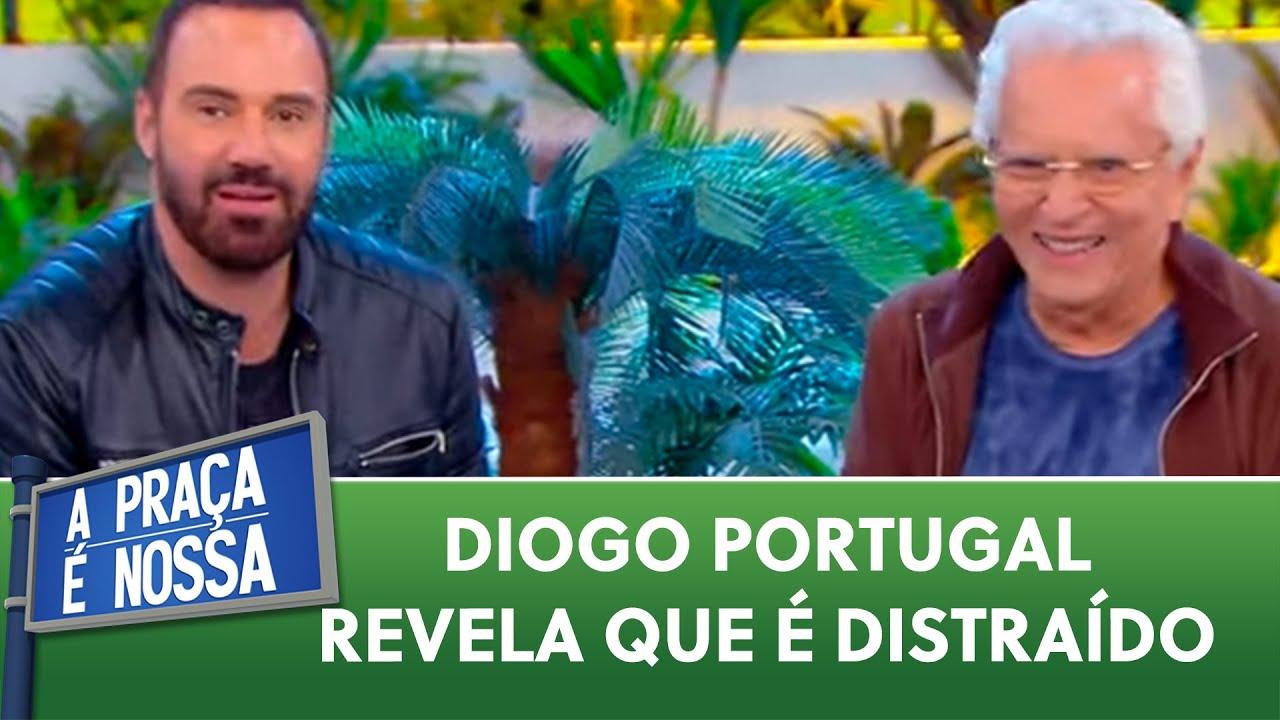 Diogo Portugal revela que é muito distraído | A Praça É Nossa (21/01/21)