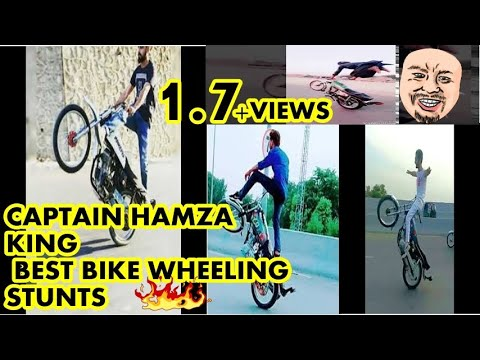 Bike wheeling Captain Hamza on the way (king 78) the stunt boy from Mansehra