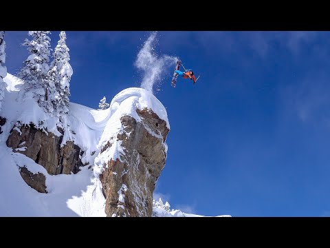 Jackson Hole Massive Air, Backcountry Skiing, Straight lines & Couloirs | O_leeps