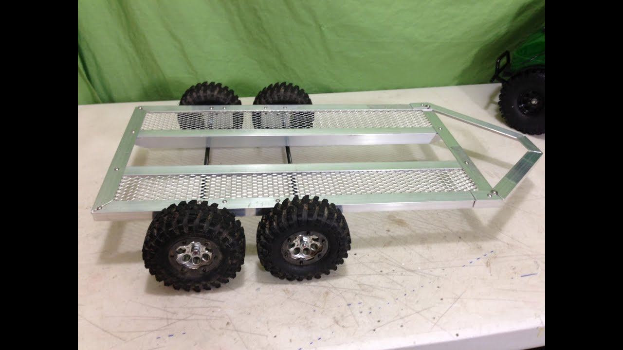 Rc 1 10 scale tandem axle trailer build youtube for 4 box auto in tandem
