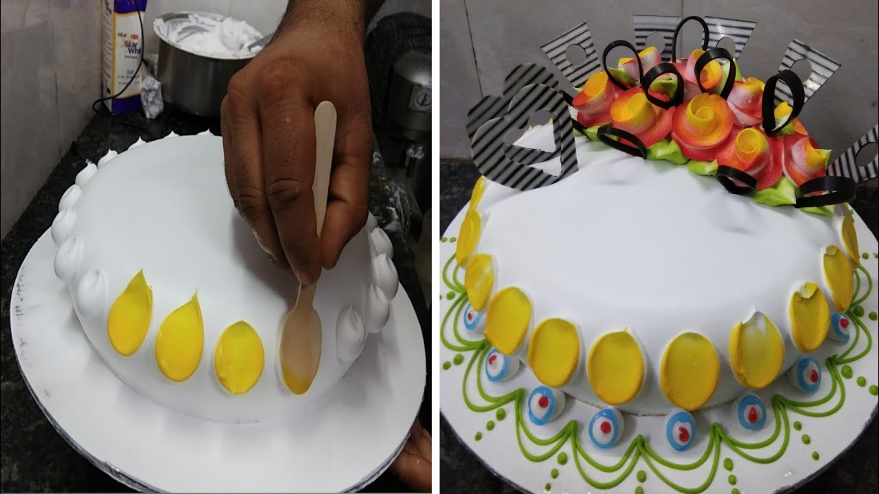 Pineapple Cake Recipe  Pineapple Cake Design  Pineapple Birthday Flowers Cake Design