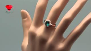 Bije.ru: Позолоченное кольцо с синим кристаллом Сваровски Jonette (Жанет)(, 2014-10-21T21:42:42.000Z)