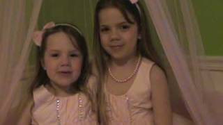 """4 year old  Ella, singing with big sister,  Emma,  """"Love Story"""" by Taylor Swift"""