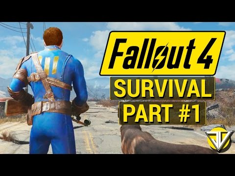FALLOUT 4: SURVIVAL MODE Let's Play Part 1 - The HARDCORE Wasteland (PC Gameplay Walkthrough)