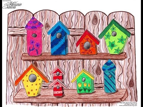 Example Coloring Pages Inspired by Nature by Erica Henry Coffee and Coloring ArtByEricaH