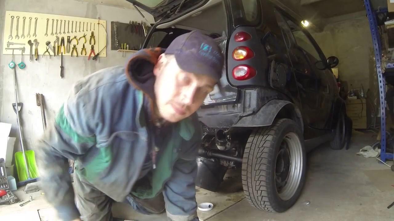 снятие и разборка мотора смарт 0,6 бензин