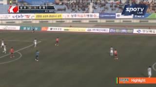 2015 K리그 챌린지 1라운드 상주상무 vs 강원FC 하이라이트