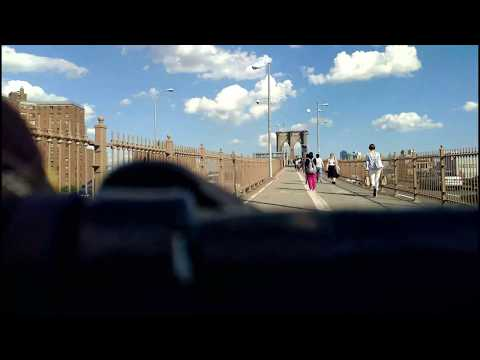POV ride South Street Seaport / Brooklyn Bridge