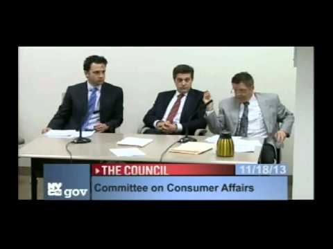 New York City Council Committee on Consumer Affairs Nov 18, 2013