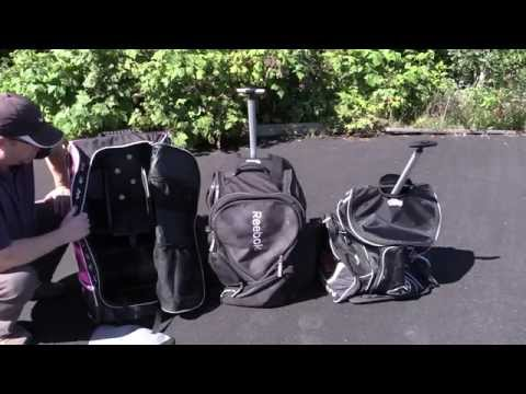 Hockey Bag Review - Grit Tower Bag, Reebok 10K & Mission Roller Backpack Hockey Bags