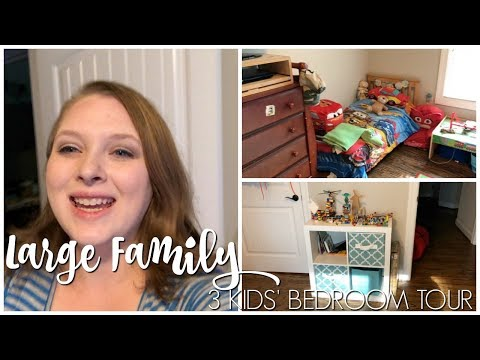 Large Family House Tour | Three Kids in One Bedroom