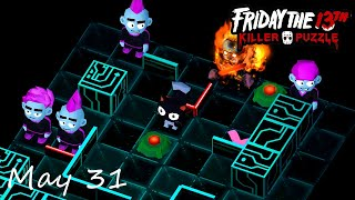 Friday the 13th Killer Puzzle Daily Death May 31 Walkthrough