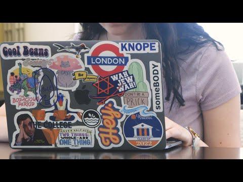 Laptop Stickers at UVA
