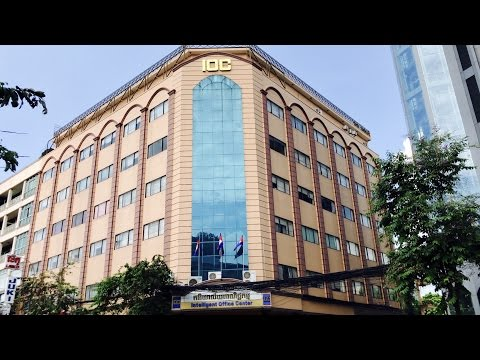 [4K]Intelligent Office Center (IOC) Estate Agents Business Activities, Phnom Penh, Cambodia