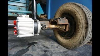 DIY Electric Powerful Truck - Used (Dual 2) Motor, See How To Make