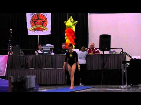 Madison Wong 2nd Vault Gliders Invitational 2015 Wildfire Gymnast Level 8