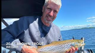 Fishing for Brown Trout and Landlock Salmon on Lake Champlain