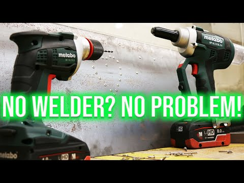 3 WAYS TO ATTACH METAL TO METAL WITHOUT WELDING!