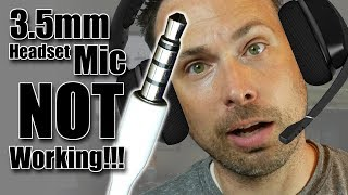 Why Doesn't My Headset Mic Work & How to Fix it (3.5mm audio cable)