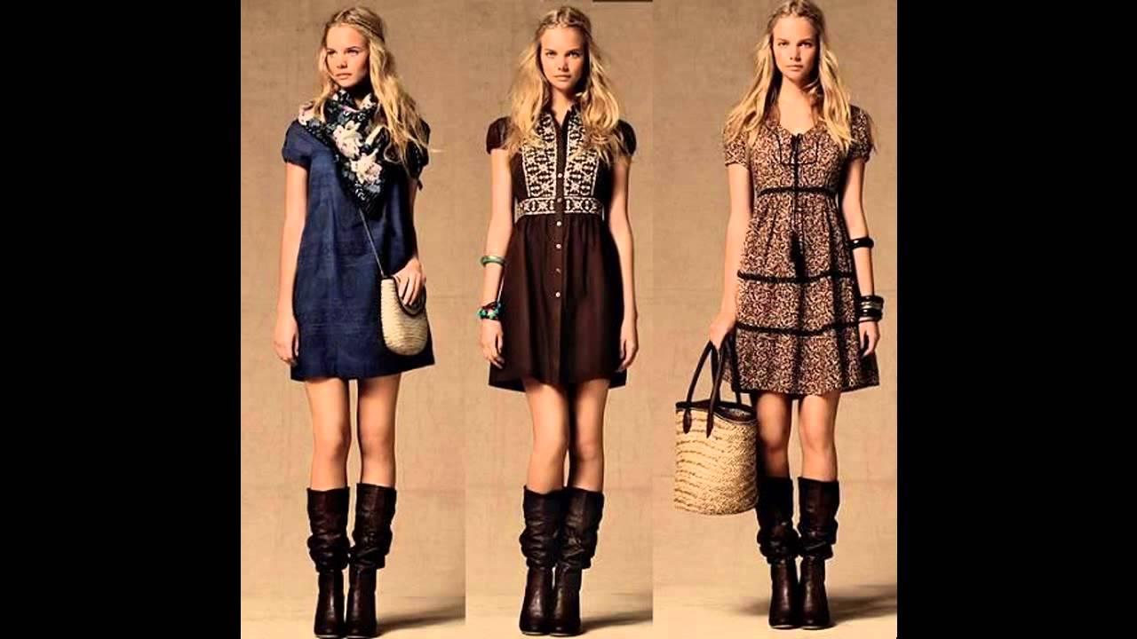 972d7ff30b Outfits vestidos casuales con botas - YouTube