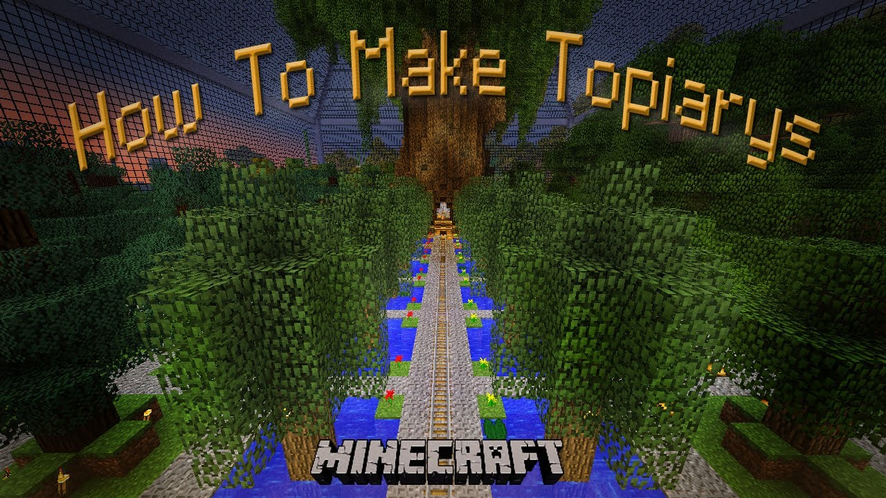 Minecraft How to Make Amazing Topiary Tree Gardens and