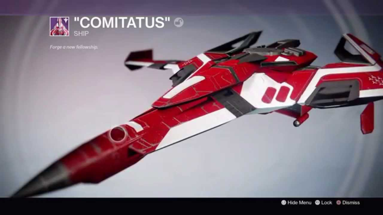 Destiny The Taken King Comitatus New Monarchy Legendary Ship