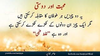 Urdu quotes  Mohabbat aur Dosti   heart touching Quotations